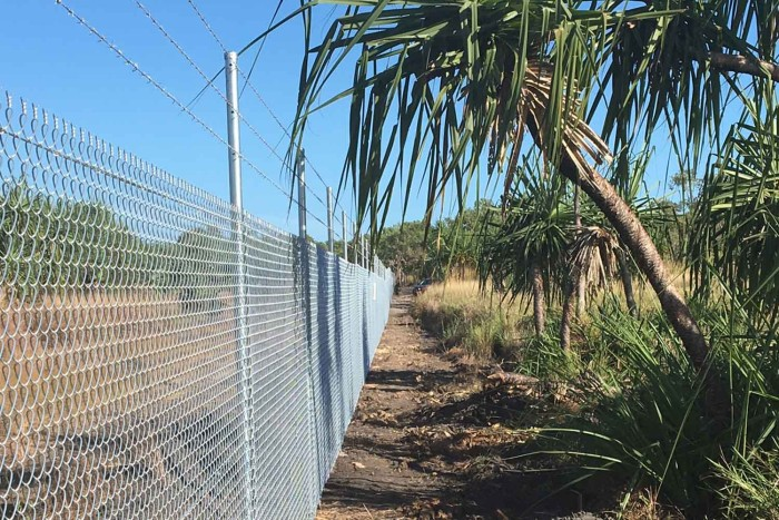Perimeter Fence Securing Robertson Barracks Marksmanship Training Range